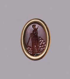 Intaglio. Diana    Place of creation:    Rome  Date:    1st century BC-1st century  Material:    cornelian, gold (in a mount of a later date)  Dimensions:    1,8x1,4 cm