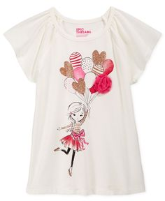 Epic Threads Little Girls' Mix and Match Balloon Embellished Graphic-Print T-Shirt, Only at Macy's