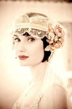1920´s wedding veil. Image by Michael Segal Photography; Art Nouveau, vintage design