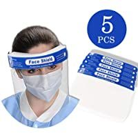 5pcs Professional Anti Fog Dustproof Protective Transparent Clear Full Visor Disposable Splash Plastic Protective Shield