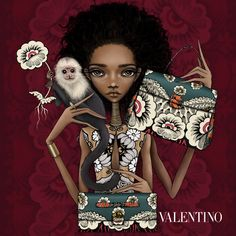 Illustration.Files: Valentino MIME Bag Fashion Illustration by Sunny Wong
