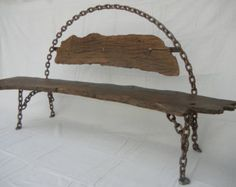 Welded Chain Bench Oak wood Welded Chain Bench Oak wood The post Welded Chain Bench Oak wood appeared first on Wood Ideas. Welded Furniture, Yard Furniture, Furniture Dolly, Industrial Furniture, Rustic Furniture, Cool Furniture, Metal Art Projects, Metal Garden Art, Concrete Wood