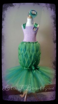 Mermaid Tutu Costume Dress SET ALL SIZES Newborn by LolaJBoutique,