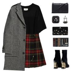 A fashion look from December 2017 featuring short sleeve t shirt, knee length coat and plaid miniskirts. Browse and shop related looks. School Dress Code, Public School, Dress Codes, Rebecca Minkoff, Yves Saint Laurent, Topshop, Raven, Womens Fashion, Polyvore