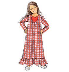 Make a holiday nightgown for your favorite girl with this Butterick sewing pattern. B6124, Children's/Girls' Top, Gown, Shorts and Pants