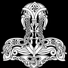 Norse and Viking Leather Art Bone Jewelry and Drinking Horns by Wodenswolf: Thor's Hammer 2012 Tatto Viking, Norse Tattoo, Celtic Tattoos, Viking Tattoos, Warrior Tattoos, 3d Tattoos, Sleeve Tattoos, Viking Designs, Celtic Designs