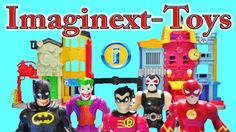 Imaginext Toys Batman Robin Flash vs. Bane Joker Stop Motion Cartoon