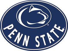 Penn State Oval Metal Embossed Sign. Nittany Lion blue and white large sign.  This item is a licensed product available at Shelley B Home and Holiday.com