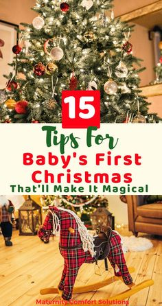 15 Ideas to make your baby's first Christmas memorable and magical. How to choose baby Christmas gifts and a baby Christmas ornament. How to pick baby Christmas outfits and pajamas! Christmas photos ideas for baby and so much more! Baby's First Christmas Gifts, Babys 1st Christmas, Christmas Makes, Family Christmas, Christmas Time, Christmas Wreaths, Baby Christmas Pajamas, Christmas Decor, Christmas Ideas