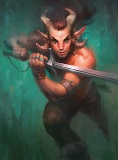 Achieve a traditional oil paint aesthetic in Corel Painter. Character Inspiration, Character Art, D D Races, Corel Painter, Dungeons And Dragons Characters, Dnd Monsters, Fantasy Forest, Satyr, Digital Art