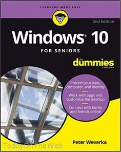 Windows 10 For Seniors For Dummies  2nd Edition (New Paperback) Peter Weverka