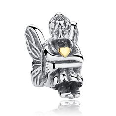 Bamoer Classic 925 Sterling Silver Elf Beads Fit Pandora Bracelet Jewelry Accessories for Mother's Day Gifts