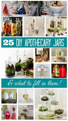 25 DIY Apothecary Jars- What to Fill? | Apothecary Jars