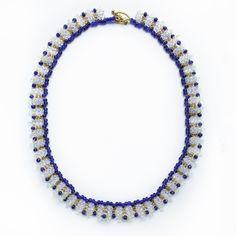 Blue Gold Necklace #narmina #handmade #handmadejewelry #accessories #fashionblogger #shop #necklace #tshirts #blue #gold