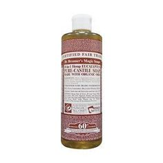 Dr Bronners Magic Pure-Castile Soap Organic Eucalyptus 16 oz by Dr. Bronner's Magic Soaps. Save 2 Off!. $10.29. Fair Trade. Natural or Organic Ingredients. Potassium solution, coconut, olive, eucalyptus oils.. Dr Bronners Magic Pure-Castile Soap Organic Eucalyptus 16 oz