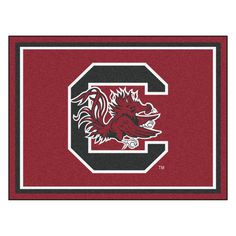 Ncaa University of South Carolina Red 8 ft. x 10 ft. Indoor Area Rug