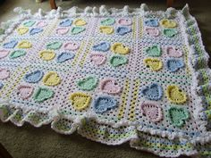 Crocheted Baby Blanket. http://www.leisurearts.com/products/snuggletime-baby-afghans-digital-download.html