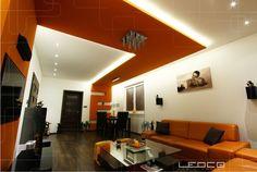 Moderné bývanie - projekt osvetlenia interiéru LED svietidlami. Osvetlenie…