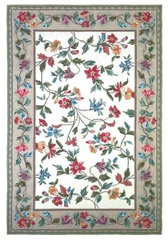 Buy the KAS Rugs 2 x 4 Oval Direct. Shop for the KAS Rugs 2 x 4 Oval Ivory Floral Vine Hand-Hooked Wool Area Rug with Cotton Backing and save. Oval Rugs, Round Rugs, Tapete Floral, Clearance Rugs, Floral Area Rugs, Rug Hooking, Rugs Online, Wool Area Rugs, Wool Rug