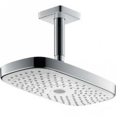 Fixed Shower Head, White Shower, Contemporary Bathrooms, Shower Heads, Car Parking, Sink, Chrome, Arm