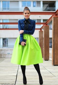 Lime Green Skirts