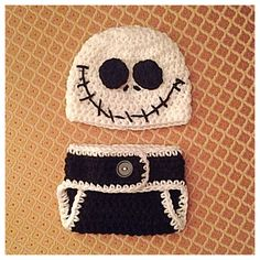 A personal favorite from my Etsy shop https://www.etsy.com/listing/249973797/crochet-nightmare-before-christmas-hat