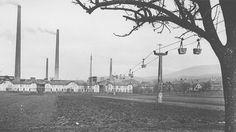 Die Seilbahn beim Zementwerk in Leimen (um 1918). ©HC-Archiv