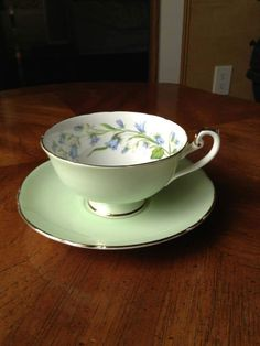 Offered Rare Shelley Fine Bone China ENGLAND Lincoln-shape Harebell 14251 Cup and Saucer. Marked FINE BONE CHINA Shelley ENGLAND 14251. Inside White color with Harebell ornament.