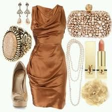 Image result for copper dress