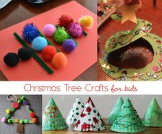 Christmas tree crafts for kids to make