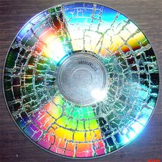 How to Microwave a CD in 6 Steps  You could hang them from a tree as art!!  http://www.wikihow.com/Microwave-a-CD