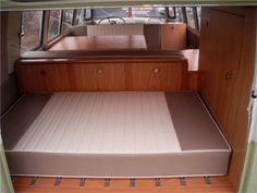Like the cupboards in the back of this VW camper van.