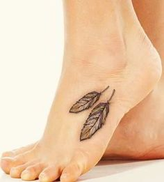 indian feather tattoo design on feet