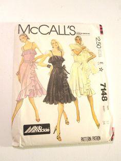 McCalls 7148 Vintage Dress Pattern Ruffle Wrap by prettyinpokadots