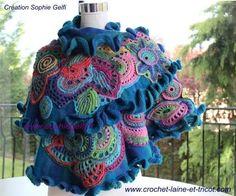 russian rhapsody 6 freeform crochet shawl Sophie Gelfi