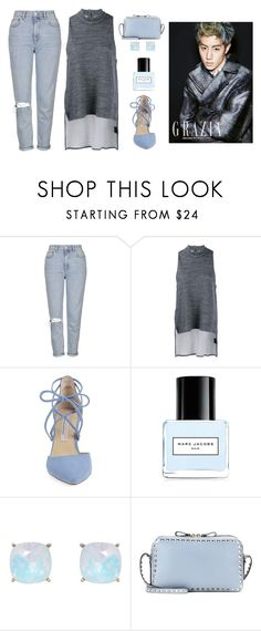 """""""Cafe date with Mark"""" by got7outfits ❤ liked on Polyvore featuring Topshop, 1205, Kristin Cavallari, Marc Jacobs, Humble Chic and Valentino"""