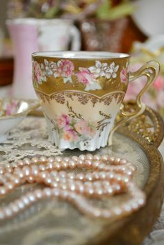 Tea and pearls :)