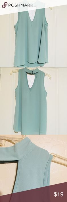 Sleeveless Top My Michelle Light Seafoam Sleeveless Blouse. Perfect spring and summer top. My Michelle Tops Blouses