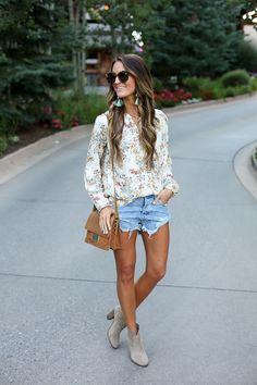 52bb9ab02fa81 favorite booties for fall · Denim CutoffsBoho TopsStreet Style SummerLauren  Kay SimsWeather ...