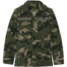 Valentino's camouflage jacket is made from cotton-gabardine that has the soft look and feel of an old favorite. Cut for a loose fit, it has faint paint-effect …