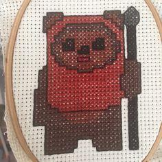 Ewok cross stitch