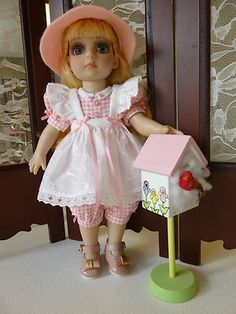 "Pink Checks & Eyelet Outfit 10"" Patsy & Ann Estelle by ""Apple"" Tonner Dolls"