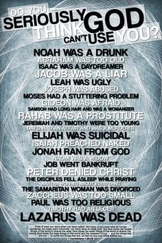 LOVE THIS. God can always use you :-)