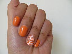 Uñas Verano Naranja
