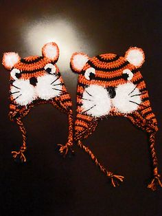 Fuzzy Muzzle Tiger Hat... Free Crochet Pattern. Also add tuft of hair on top like zebra pattern