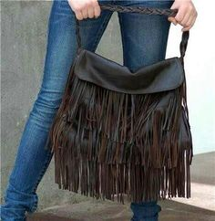 The It Bag of Spring and Summer 2014 Gorgeous Leather Fringe Bag Romantic Bohemian Chic by marianagaby on Etsy Hippie Style, Hippie Chic, Boho Chic, My Style, It Bag, Hobo Bag, Cowgirl Chic, Cowgirl Style, Fringe Bags