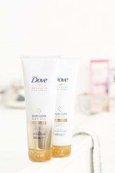 New Haircare Love: Dove Pure Care Dry Oil Shampoo and Conditioner | MadeFromBeauty.co.uk