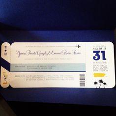 My travel themed wedding invitation.