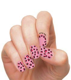 Artzy Nails   Pink Leopard