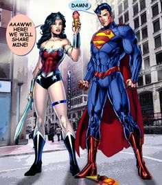 Wonder Woman and Superman: Ice cream. by godstaff